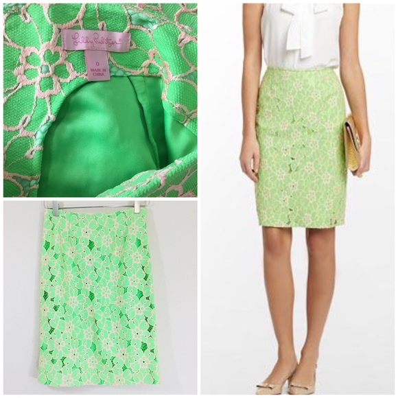 826025147 Lilly Pulitzer Dresses & Skirts - Lilly Pulitzer Hyacinth Pencil Skirt.